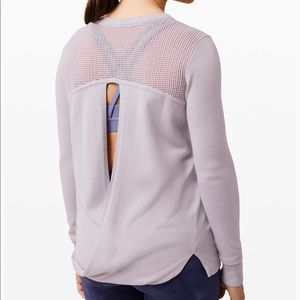 New LULULEMON Back to Balance Sweater Iced Iris 6